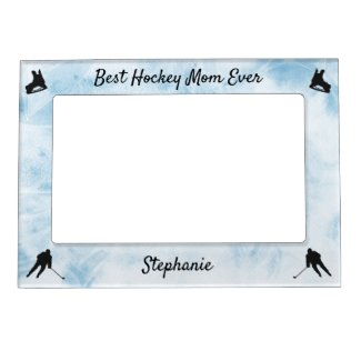 Best Hockey Mom frame picture blue ice