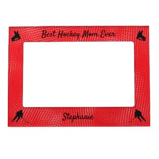 Best Hockey Mom frame picture red