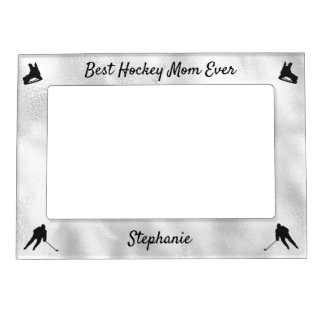 Best Hockey Mom frame picture silver color