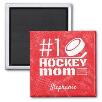 Best Hockey Mom Magnet number 1 red