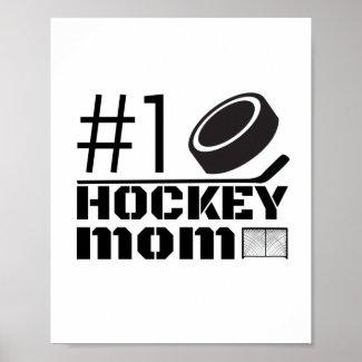Best Hockey Mom poster number 1 white