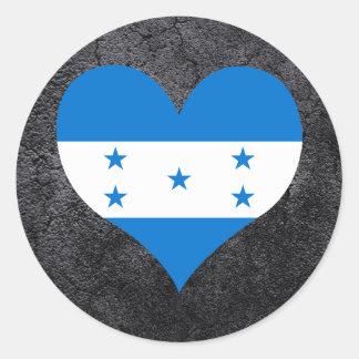 Best Honduran Heart flag Classic Round Sticker