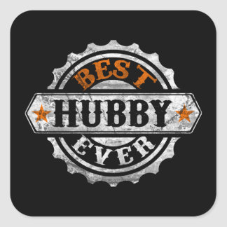 Best Hubby Ever Square Sticker