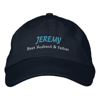 BEST HUSBAND and FATHER Navy Blue Hat C03 Embroidered Hats