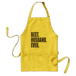 Apron with Best. Husband. Ever. design