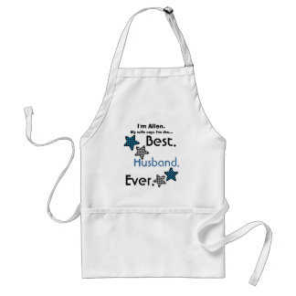 Best Husband Ever Blue Checked Stars V01 Adult Apron