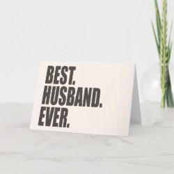 Standard Card with Best. Husband. Ever. design