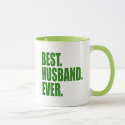 Combo Mug with Best. Husband. Ever. (green) design