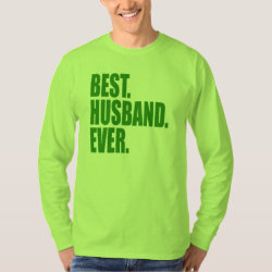 Men's Basic Long Sleeve T-Shirt with Best. Husband. Ever. (green) design