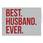 Best Husband Ever Greeting Card