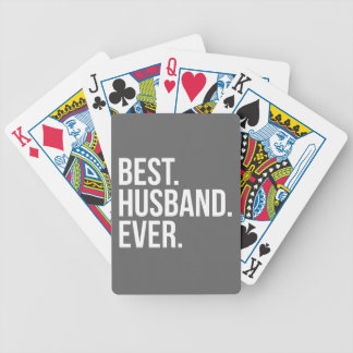 Best Husband Ever Grey Bicycle Playing Cards