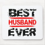 Best HUSBAND Ever Grunge Style Red and Black Z807 Mouse Pad
