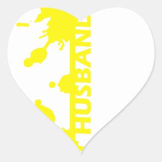 Best Husband Ever Heart Sticker