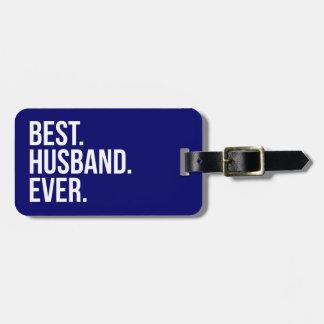 Best Husband Ever Navy Bag Tag
