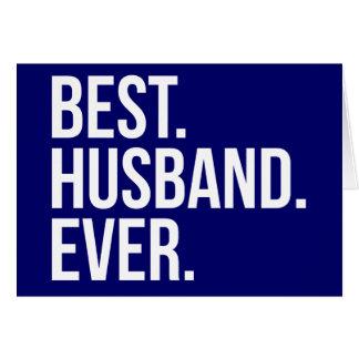 Best Husband Ever Navy Card