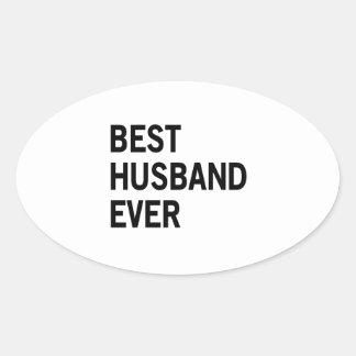 Best Husband Ever Oval Sticker