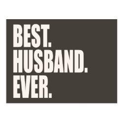 Postcard with Best. Husband. Ever. design