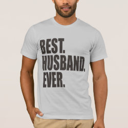 Men's Basic American Apparel T-Shirt with Best. Husband. Ever. design
