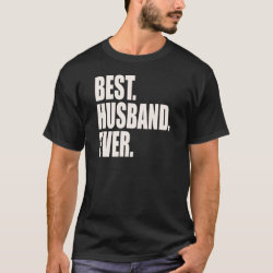 Men's Basic Dark T-Shirt with Best. Husband. Ever. design