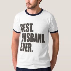 Men's Basic Ringer T-Shirt with Best. Husband. Ever. design