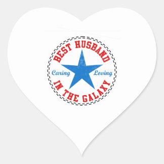 Best Husband In The Galaxy Heart Sticker