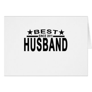Best HUSBAND Since 2011 Tshirt.png Card