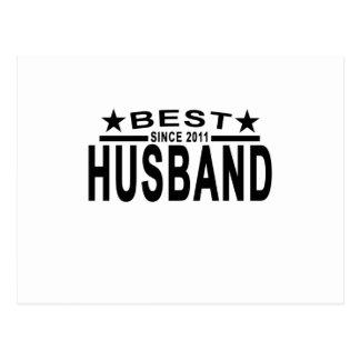 Best HUSBAND Since 2011 Tshirt.png Postcard