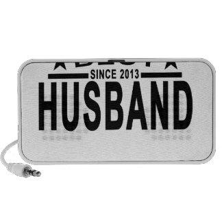 Best HUSBAND Since 2013 Tshirt.png Portable Speaker