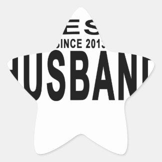 Best HUSBAND Since 2013 Tshirt.png Star Sticker