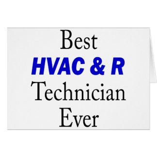 Best HVAC & R Technician Ever Greeting Card