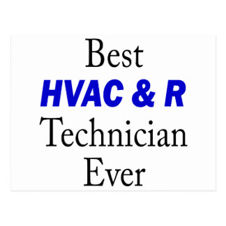 Best HVAC & R Technician Ever Postcard