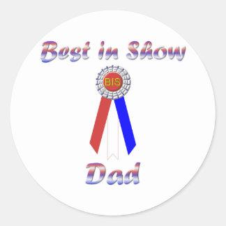 Best In Show Dad (Rosette) Classic Round Sticker
