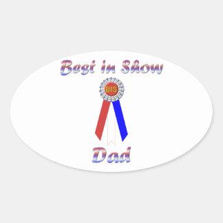 Best In Show Dad (Rosette) Oval Sticker