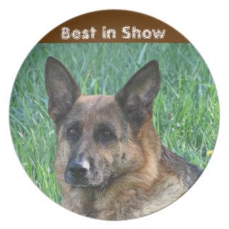 Best in show German Shepherd Dog Plate