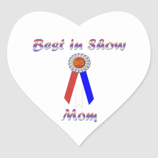 Best In Show Mom (Rosette) Stickers