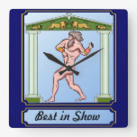 Best in show square wallclock
