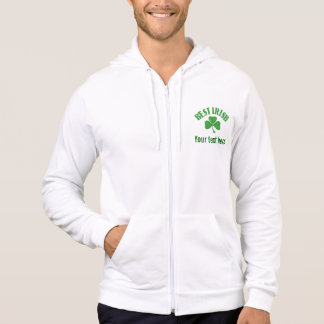 Best Irish - Customize your text Hooded Pullover