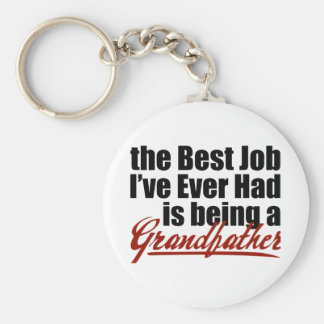 Best Job is Being a Grandfather Keychain