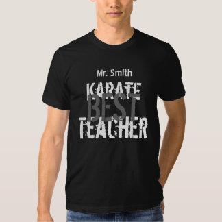 Best Karate Teacher with Name Gift Tee Black