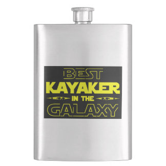 Best Kayaker In The Galaxy Flask