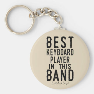 Best Keyboard Player (probably) (blk) Keychain