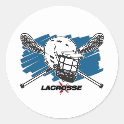 Best Lacrosse Classic Round Sticker