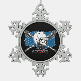 Best Lacrosse Snowflake Pewter Christmas Ornament