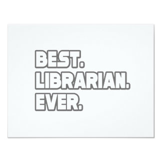 Best Librarian Ever Card