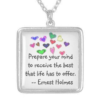 Best Life Has to Offer Square Pendant Necklace