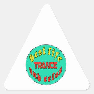 Best Life Trance Triangle Sticker