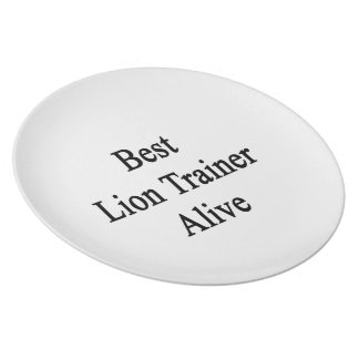 Best Lion Trainer Alive Dinner Plates