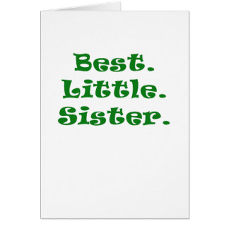 Best Little Sister Greeting Card