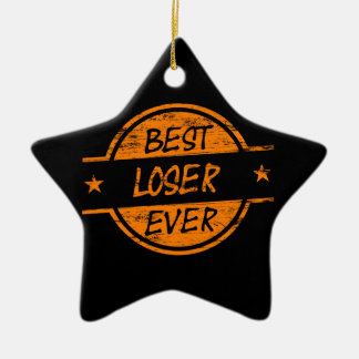 Best Loser Ever Orange Double-Sided Star Ceramic Christmas Ornament