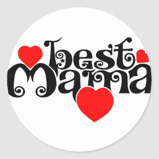 Best Mama Classic Round Sticker